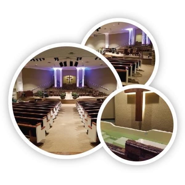 updated sanctuary and lighting - Christ Community Church The Pentecostals - Henderson, TN