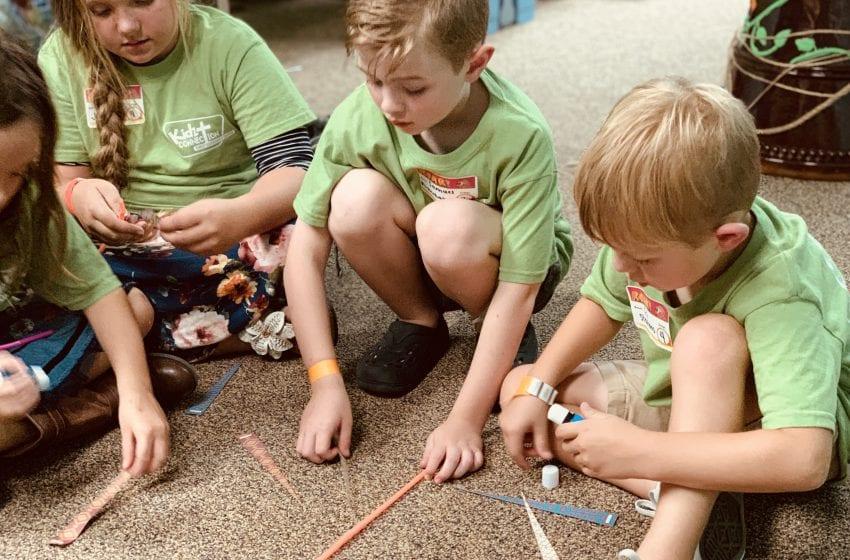 apostolic children playing games on the floor at Christ Community Church The Pentecostals - Henderson, TN