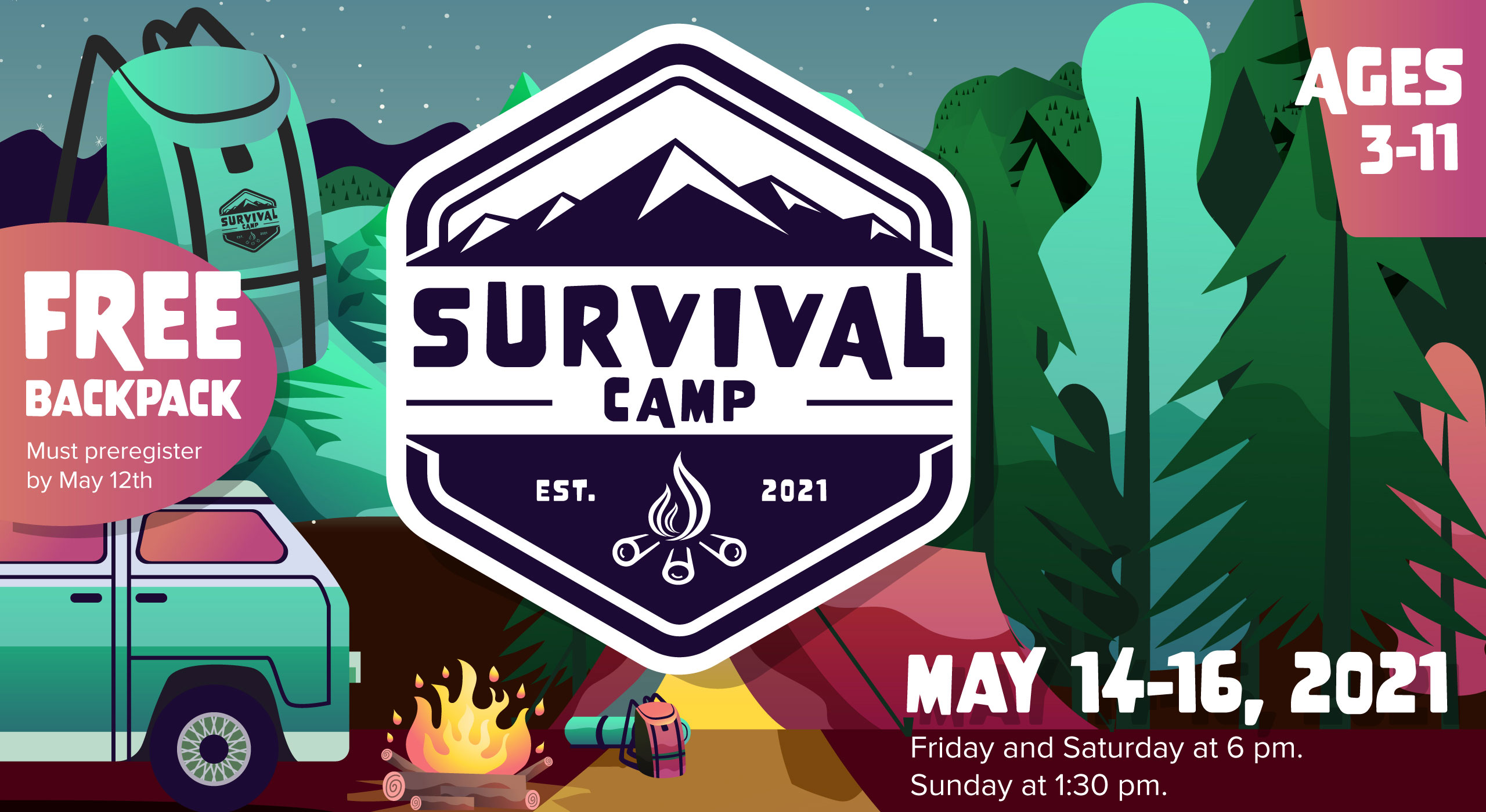 Survival Camp at Christ Community Church The Pentecostals in Henderson, Tennessee
